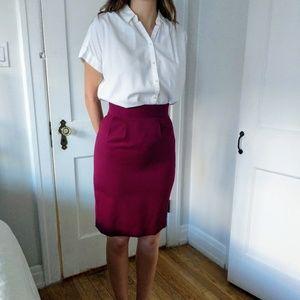 Vintage, Wool Pencil Skirt